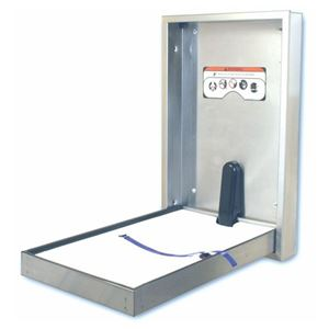 Picture of ASI JD MacDonald BCV-SSC-R Vertical Recessed Baby Change Station - Full Satin Stainless Steel