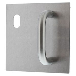 Picture of Lockwood 20025NA-P1L External  162x162mm Pull Handle Plate LH SS