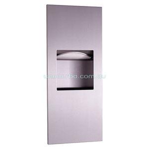 Picture of Bobrick B36903 Trimline Paper Towel Dispenser & Waste Bin SS