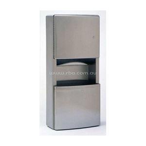 Picture of Bobrick B4369 Contura Paper Towel Dispenser & Waste Bin SS