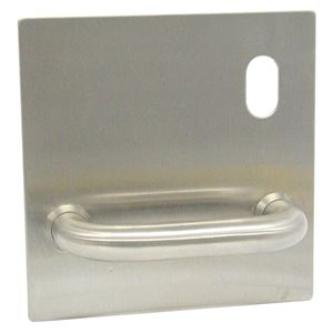 Picture of dormakaba 1501C-DP 160x160 Pull Handle Plate RH SSS