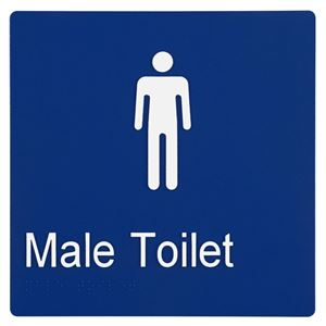 Picture of Sabre Male Braille Sign