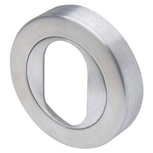 Picture of Novas B08 Oval Cylinder Escutcheon SSS
