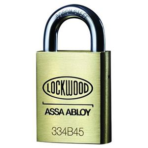 Picture of Lockwood 334 Brass 45mm Padlock 19mm Shackle 6P KD