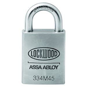 Picture of Lockwood 334 Stainless Steel 45mm Padlock 19mm SS Shackle