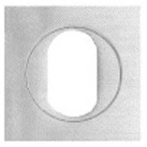 Picture of Parisi 389QU Oval Cylinder Escutcheon Square SC