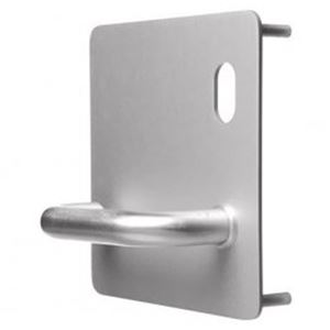 Picture of Lockwood 20201NA-96R External 162x162 Cylinder & Lever Plate RH SS