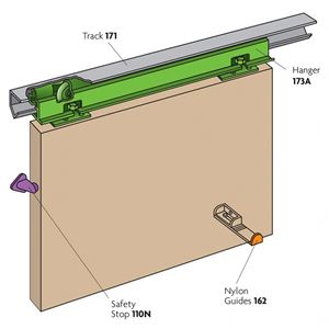 Picture of Lockwood HP9 Phantom Door 1525mm Sliding Door Kit
