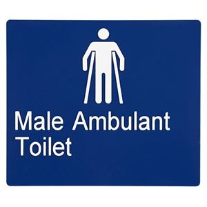 Picture of Sabre Male Ambulant Braille Sign