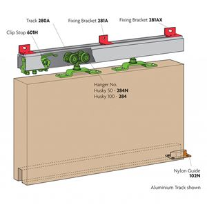 Picture of Lockwood HH100-15 1500mm Galvanised  Internal Sliding Door Kit