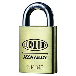 Picture of Lockwood 334 Brass 45mm Padlock 19mm Shackle