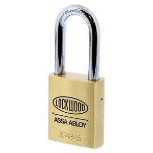Picture of Lockwood 334 Brass 45mm Padlock 48mm Shackle