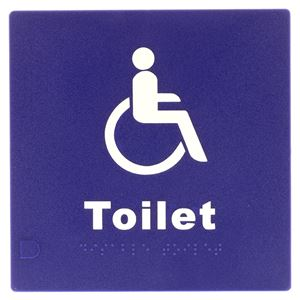 Picture of Lockwood BRS0702 Disabled Braille Sign
