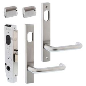 Picture of dormakaba ST9212KIT1 Entrance Double Cylinder Mortice Lock Door Kit SSS