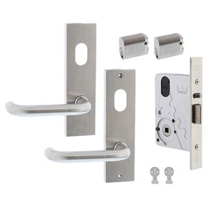 Picture of dormakaba ST9602KIT1T Entrance Double Cylinder Mortice Lock Door Kit SSS