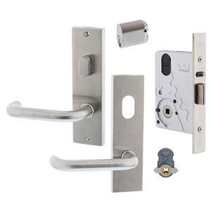 Picture of dormakaba ST9602KIT3T Entrance Single Cylinder & Turn Mortice Lock Timber Door Kit SSS *OBSOLETE*