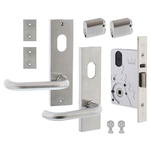 Picture of dormakaba ST9602KIT1A Entrance Double Cylinder Mortice Lock Door Kit SSS *OBSOLETE*