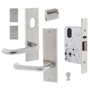 Picture of dormakaba ST9602KIT6A Classroom Single Cylinder Mortice Lock Aluminum Door Kit SSS