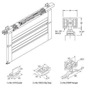 Picture of Brio SR80-20-1 2000mm Complete Track Set
