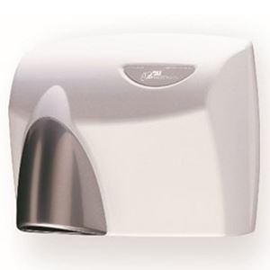 Picture of ASI JD MacDonald HDABWHTSG Autobeam Hand Dryer - White with Silver Gloss Nozzle