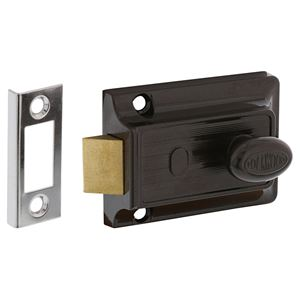 Picture of Lockwood 100 Nightlatch No Cylinder Open Out BRN