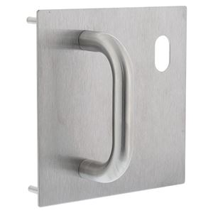 Picture of Lockwood 20025NA-P1R External  162x162mm Pull Handle Plate RH SS