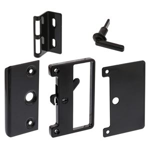 Picture of Whitco W821417 Bass Sliding Screen Door Latch, Strike & Outer Pull BLK