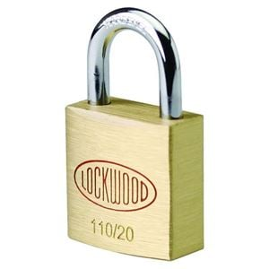 Picture of Lockwood 110 Brass 20mm Padlock 11mm Shackle