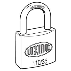 Picture of Lockwood 110 Brass 35mm Padlock 21mm Shackle
