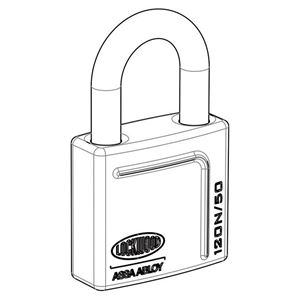 Picture of Lockwood 120N Brass 50mm Padlock 32mm Shackle