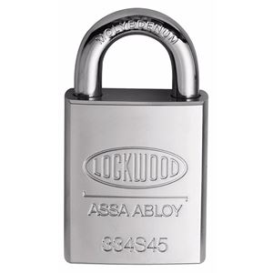 Picture of Lockwood 334 Solid Steel Case 45mm Padlock 19mm CM Shackle 5P KD