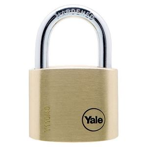 Picture of Yale 110-40 Brass Padlock 23mm Shackle