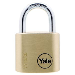 Picture of Yale 110-30 Brass Padlock 17mm Shackle