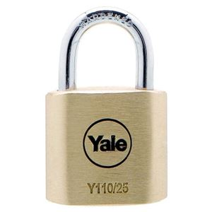 Picture of Yale 110-25 Brass Padlock 15mm Shackle