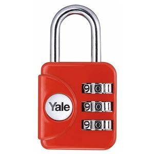 Picture of Yale YP1-28 Padlock 21mm Shackle Red