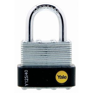 Picture of Yale 125-40 Steel Padlock 22mm Shackle