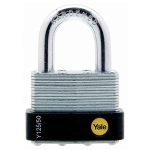 Picture of Yale 125-50 Steel Padlock 29mm Shackle
