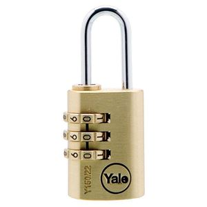 Picture of Yale 150-22 Brass Padlock 20mm Shackle