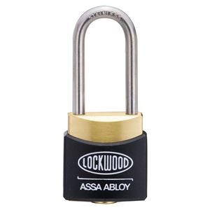 Picture of Lockwood 312AD38/BK Brass 30mm Padlock 38mm Shackle Black Cover