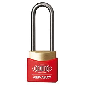 Picture of Lockwood 312EL/38/RD Brass Padlock 38mm Shackle Red Cover