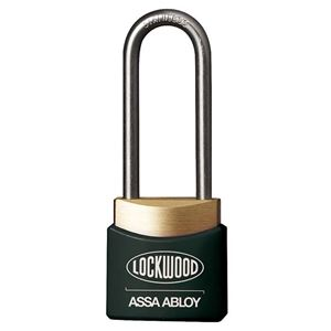 Picture of Lockwood 312EL/38/BK Brass Padlock 38mm Shackle Black Cover