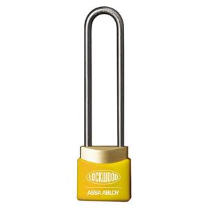 Picture of Lockwood 312ED50/YE Brass 30mm Padlock 50mm Shackle Yellow Cover