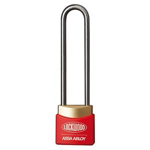 Picture of Lockwood 312ED50/RD Brass 30mm Padlock 50mm Shackle Red Cover