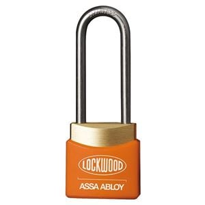 Picture of Lockwood 312ED38/OR Brass 30mm Padlock 38mm Shackle Orange Cover