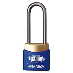 Picture of Lockwood 312AL38/BL Brass 30mm Padlock 38mm Shackle Blue Cover