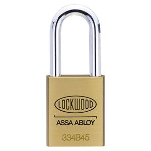 Picture of Lockwood 334 Brass 45mm Padlock 48mm SS Shackle 5P KD