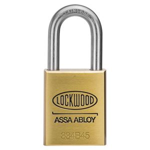 Picture of Lockwood 334 Brass 45mm Padlock 38mm SS Shackle 5P KD