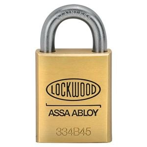 Picture of Lockwood 334 Brass 45mm Padlock 19mm SS Shackle 5P KD