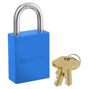Picture of Masterlock 6835BLU Alum Powder Coated 40mm Wide Body