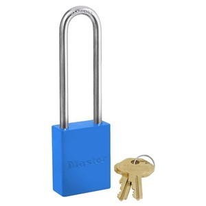 Picture of Masterlock 6835LTBLU Alum Powder Coated 40mm Wide Body